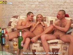 Пьяный секс русских без