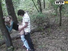 Русское любительское порно в лесу