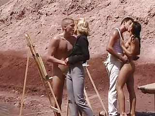 Секс на улице пляже